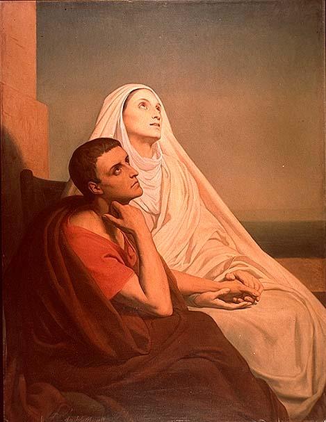 agostinho e sua mae